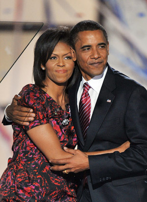 The President and Mrs. Obama