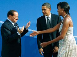 Italian Prime Minister and Obamas